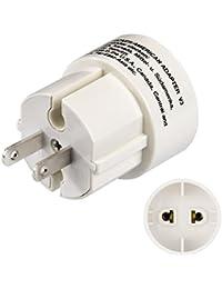 Hama Reisestecker USA Typ A (Adapter für Amerika, Japan, Kanada, Brasilien, Thailand, geeignet für Geräte mit Euro- oder Konturenstecker)