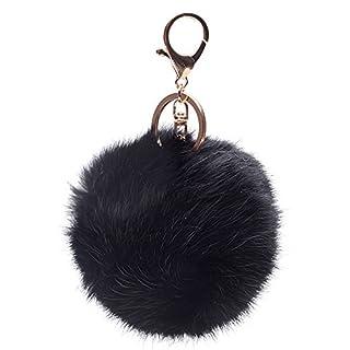 ANKEER Schlüsselanhänger Kaninchen Pelz Schlüsselanhänger für Auto-Schlüsselanhänger oder Taschen