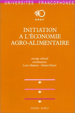 Initiation à l'économie agro-alimentaire