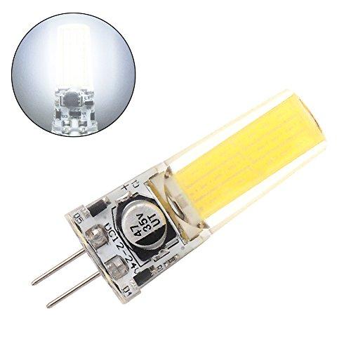 GRV G4 COB 2508 4W DC12~24 V Schrank LED Silikon Licht Kristall 35W Leuchtmittel Halogen Track Ersatz, Kaltes Weiß, g4 4watts 12volts 2 Stücke (Weiße Track-licht)