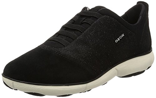Geox D NEBULA G, Damen Low-top Sneakers, Schwarz (BLACKC9999), 40 EU