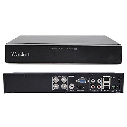 Westshine 4-kanal 1080P Digitaler Videorekorder Netzwerk DVR H. 264 CCTV Motion Detection E-Mail Sicherheitsalarm P2P Cloud für Überwachungskamera