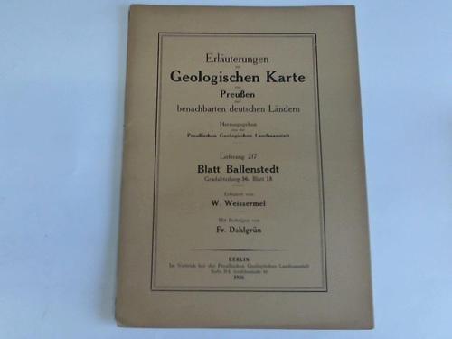 Blatt Ballenstedt. Gradabteilung 56. Blatt 18