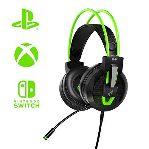 Argon Cuffie Gaming 'Two dots' Multi Piattaforma Speaker HD 50Mm Sound Proof Isolamento Rumore e Microfono Flessibile a 120 - PlayStation 4