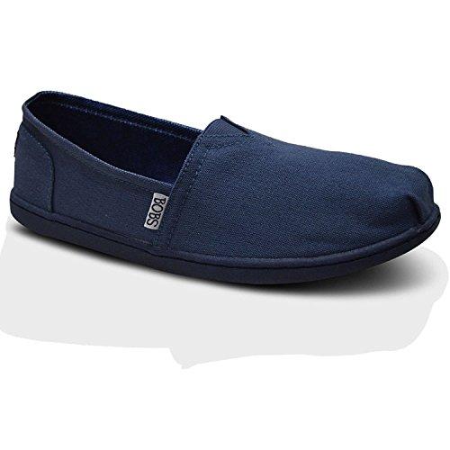 Bobs Skechers ,  Mädchen Damen Espadrilles , blau - marineblau/blau - Größe: 36.5