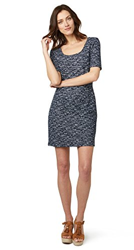 Tom Tailor für Frauen Dress elegantes Bouclé-Kleid real navy blue