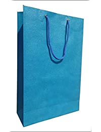 Authentics Hand Made Paper Bag Blue Colour Size 10 X 7 Inches