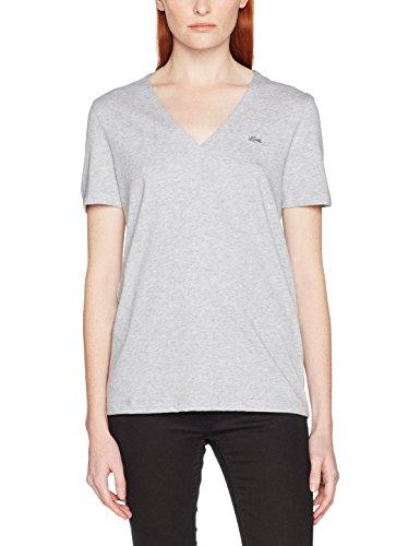 Lacoste Damen Fit Slim T-Shirt Tf8908, Grau (Argent Chine), 44 (Herstellergröße: 44)
