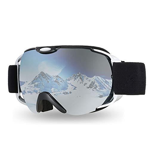 Lixada Maschera da Sci Snowboard Adulto Sciare Occhiali Inverno Snowboard Occhiali Ventilato Anti Nebbia Sferico Doppia Lente per Motoslitta Sciare Pattinando