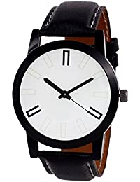 Swadesi Stuff Black Leather Strap Stylish Analouge Wrist Watch For Men And Boys 011
