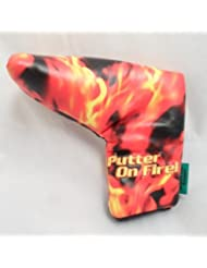 Loudmouth Golf- Liar Liar Putter on Fire Putter Cover by Winning Edge
