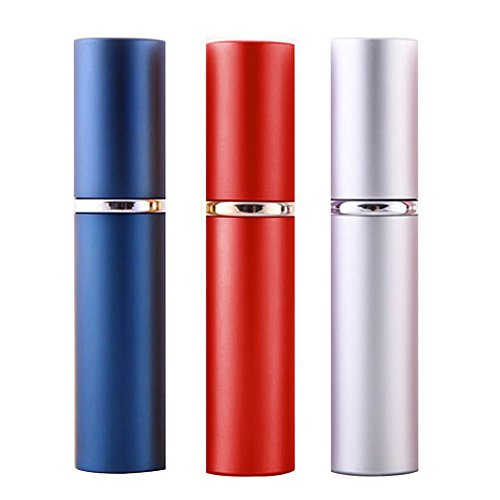 3 Pièces 6ml Mixé Couleur Mini Rouge à Lèvres Forme Bouteille Réutilisable Vide Parfum Atomiseur Pompe Pulvérisateur Bouteille Set de Voyage
