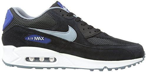 Nike Air Max 90 Leather, Running Entrainement Homme Negro - Black/Dove Grey/Gym Blue/Blue Graphite