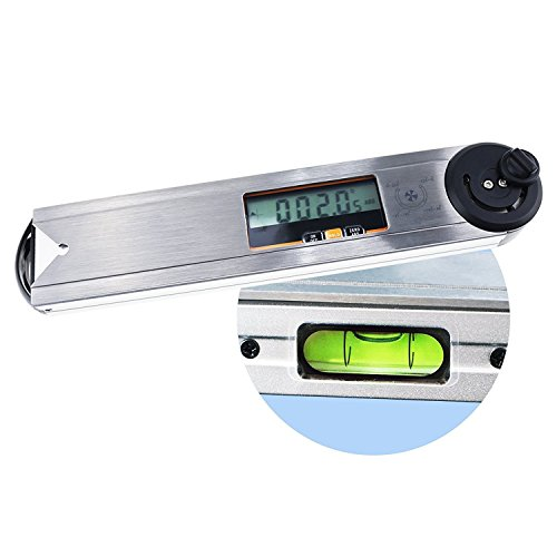 Digital Level Angle Finder 360 Grad Winkelmesser Goniometer mit Metall Moving Blade Vial IP54 wasserdicht Standard