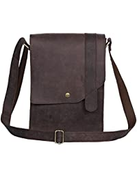 Woodons Premium Unisex Leather Sling Bag (Brown, STB39)