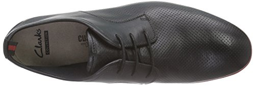Clarks Frewick Walk, Derby homme Noir (Black Leather)