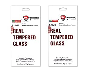 Kronus Premium Quality Pack Of 2 Tempered Glass Screen Protector For Lava X3 ||2.5 D Curved Edged Glass|| Perfect Fit||Oil Coated||