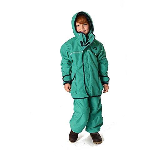 Finkid Tuulis emerald navy grün blau Kinder Zip In Außenjacke Regenjacke Jacke Parka Mantel