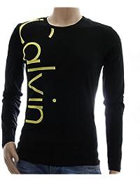 Calvin Klein Jeans: T-shirt noir a manches longues