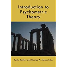 [Introduction to Psychometric Theory] (By: Tenko Raykov) [published: October, 2010]