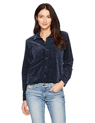 Lucky Brand Damen 7W42273 Button-Down Hemd - blau - Mittel - 33 Blau Long Shirt