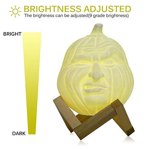LNHYX USB Wiederaufladbare Fernbedienung Tischlampen Für SchlafzimmerMagische Gesichtsform Kürbis Licht Hause Halloween Dekoration