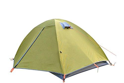 ZHANGQIAN Tente De Camping, Tente Imperméable Et Coupe-Vent Durable De Double-Couche, Tente Extérieure Se Pliante Portative pour L'Escalade Camping D'Escalade Pendant 4 Saisons