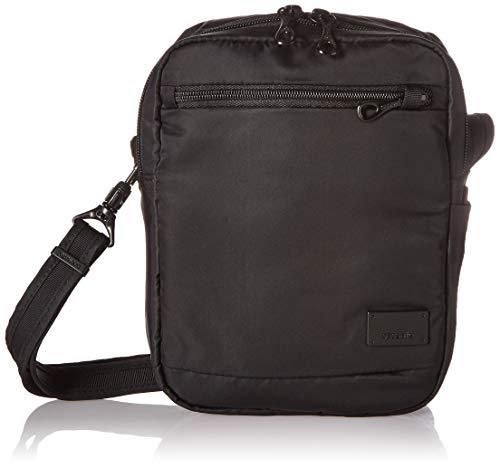 Pacsafe Citysafe CS75 Anti-Diebstahl Nylon kleine Umhängetasche für Damen, Schultertasche mit Diebstahlschutz, Sicherheits-Features - 2,5 L Uni, Black/Schwarz -
