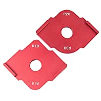 AnySell 2pcs Wood Panel Quick Radius Corner Table Bits Router Jig Angle Templates