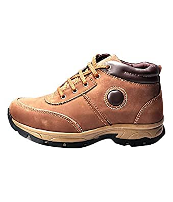 Ajanta Men's Brown Leather Casual Shoes (15960102445AA) - 10 UK