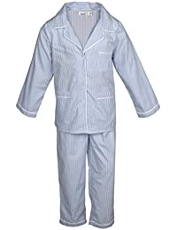 ShopperTree Soothing Cotton Striped Grey Night Wear for Boys