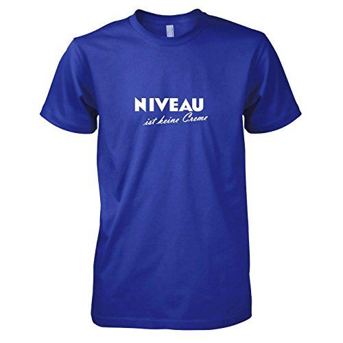 TEXLAB - Niveau ist keine Creme - Herren T-Shirt, Größe M, marine (Marine-freundin-t-shirt)