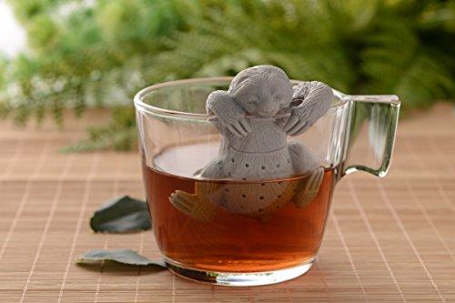 Netcream Süßes Faultier Tee Sieb oder Tee Ei aus hochwertigem Silikon 100{211458690cc0e3adfe9b11e3b3b59aafb5b27b77b54af95756906758287c1035} BPA frei