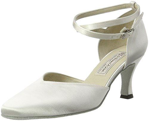 Werner Kern - Scarpe da ballo Betty, 6,5 cm raso bianco