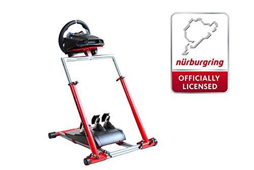 Preisvergleich Produktbild Speedmaster Wheelstand - Lenkrad Halterung Massiv - Wheel Stand - Rot - Nürburgring Edition für Logitech Thrustmaster Fanatec