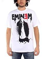 Eminem - - Up Männer T-Shirt in Weiß Spritzbeton
