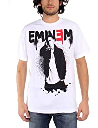 Eminem - Sprayed Up Mens T-Shirt In White, Size: Large, Color: White