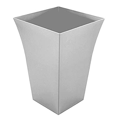 Large Milano Tall Planter Silver Square Plastic x 4 OGD165