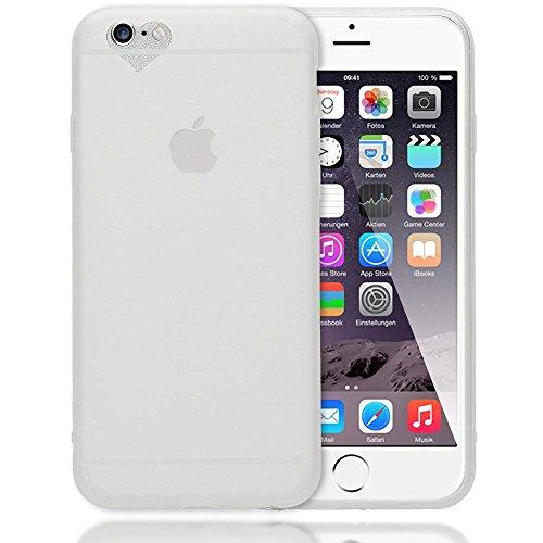 NALIA Herz Handyhülle für iPhone 6 6S, Silikon Case Schutz-Hülle Gummihülle, Soft Slim Cover Etui Dünne Handy-Tasche, Ultra-Slim Phone Back-Cover Skin Bumper für Apple iPhone-6, Farbe:Transparent