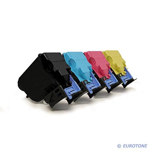 Preisvergleich Produktbild 4er Set Eurotone Toner ersetzt TNP-48K 48C 48M 48Y A5X0150 250 350 450 XXL für Konica Minolta Bizhub C 3350 3850 FS Black Cyan Yellow Magenta