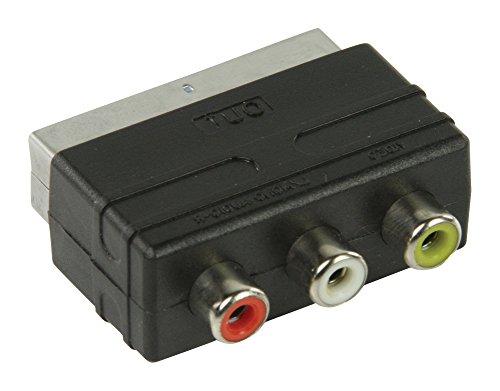 Valueline VLVP31901B Adaptateur de câble-Adaptateur péritel câble pour (3 x RCA Noir mâle/femelle)