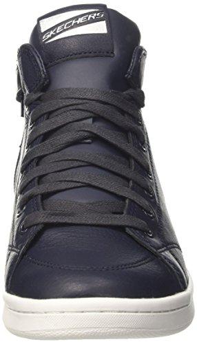 Skechers Omne-Midtown, Sneakers Hautes Femme Bleu (Nvy)