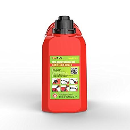 Seaflo gasolina Dep sito De Combustible 0 8 kg rojo pl stico 1 3 L 5 L latas de combustible apagado autom tico