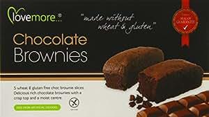 Lovemore Gluten-Free Chocolate Brownies 180g 5 Brownies per Pack   (Case of 6, Total of 30 Brownies)