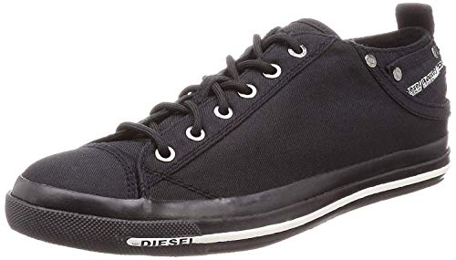 pretty nice 632e5 ca650  Diesel Expsoure Low I Pirate Black Mens Trainers Shoes