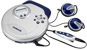 Baladeur CD Thomson LAD 950 Fonction hold, SPC : Sound Pressure Control, Introscan, mémoire anti-choc électronique 45 ESPX, autonomie 20 heures, télécommande filaire et casque e.clipz earphones fourni