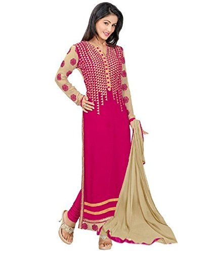 Pahal Fashion Women's Pink Dress Materials