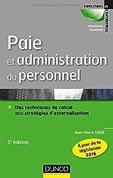 Paie et administration du personnel - 5e éd.