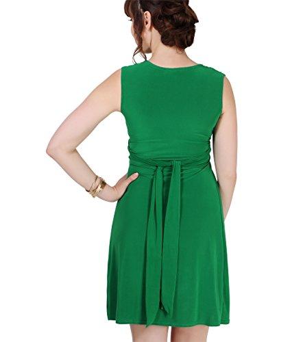 KRISP® Femmes Robe Inspiration Portefeuille Soirée Cocktails Elégante Maternité Grossesse Jade