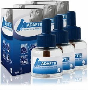 3 X Adaptil Diffuser Refill Dog Appeasing Pheromone 48ml by ADAPTIL